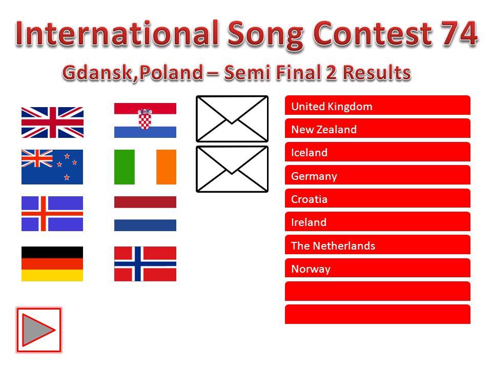 United Kingdom New Zealand Iceland Germany Croatia Ireland The Netherlands Norway