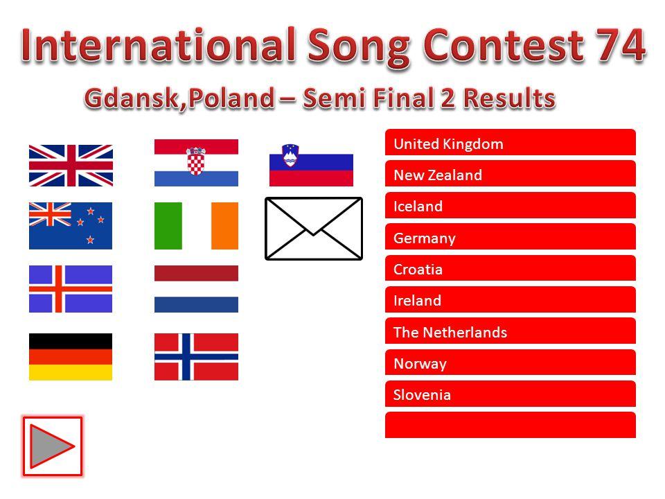 United Kingdom New Zealand Iceland Germany Croatia Ireland The Netherlands Norway Slovenia