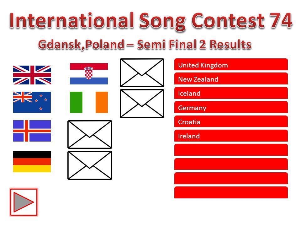United Kingdom New Zealand Iceland Germany Croatia Ireland