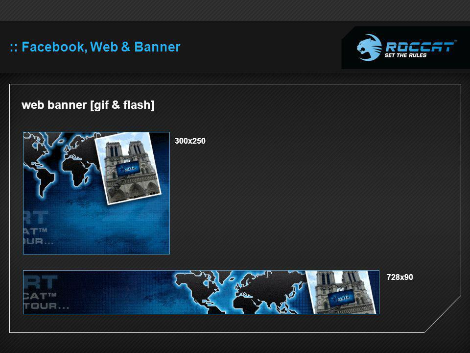 :: Facebook, Web & Banner web banner [gif & flash] 300x250 728x90