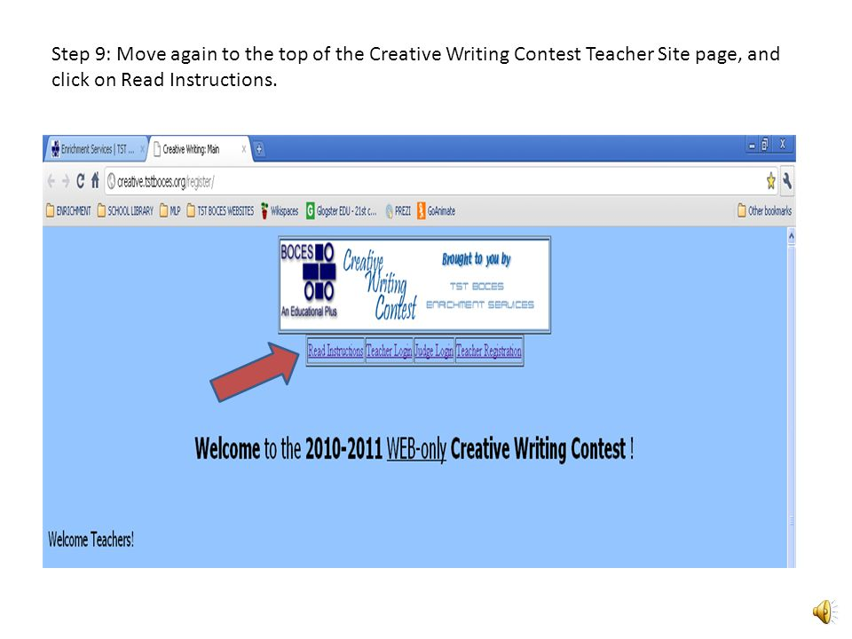 Step 8: On the Teacher Registration page, fill in the prompts and click submit.