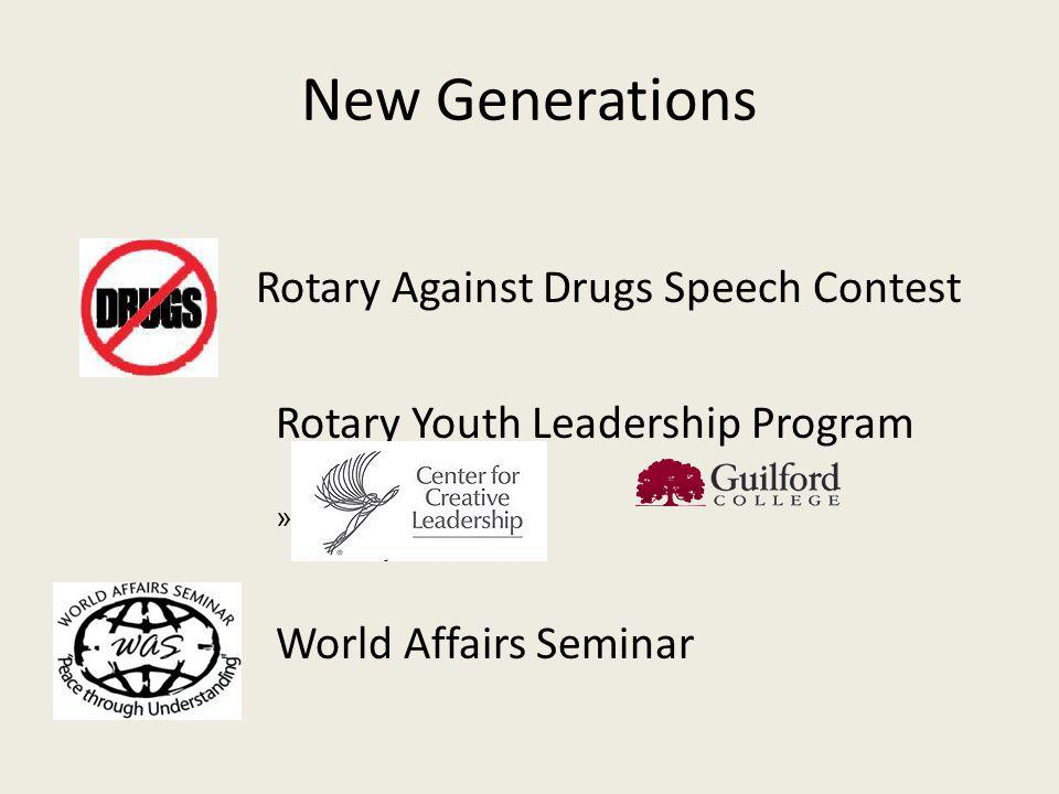 Rotary Against Drugs Speech Contest Rotary Youth Leadership Program » World Affairs Seminar