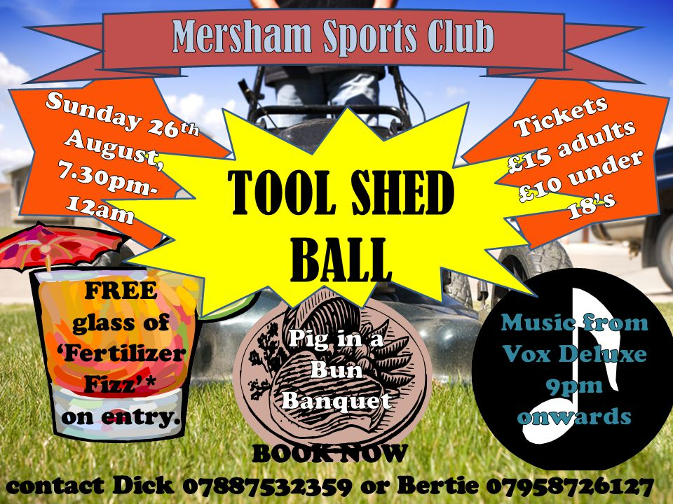 SUPER 6S Every evening during Cricket Week Winner Announced at Tool Shed Ball, Sunday 26 th August.