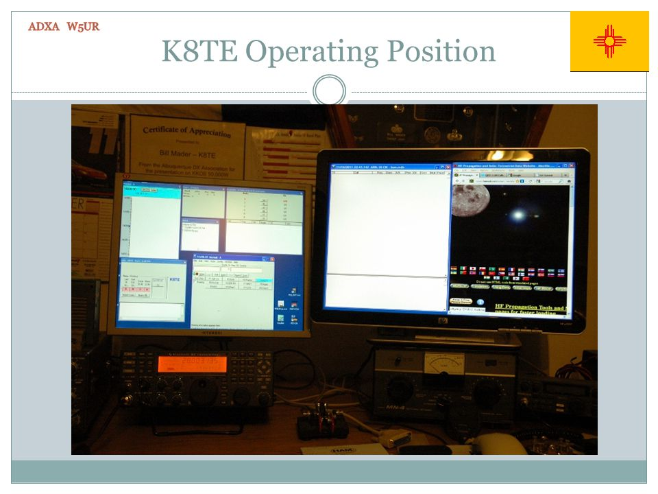 K8TE Operating Position