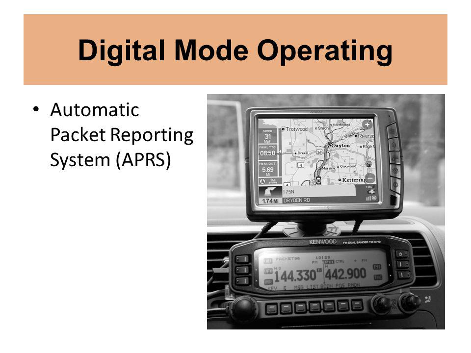 Digital Mode Operating Automatic Packet Reporting System (APRS)