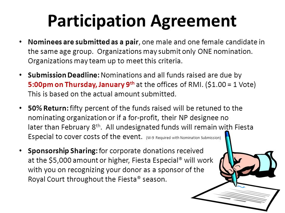 Nominees are submitted as a pair, one male and one female candidate in the same age group.