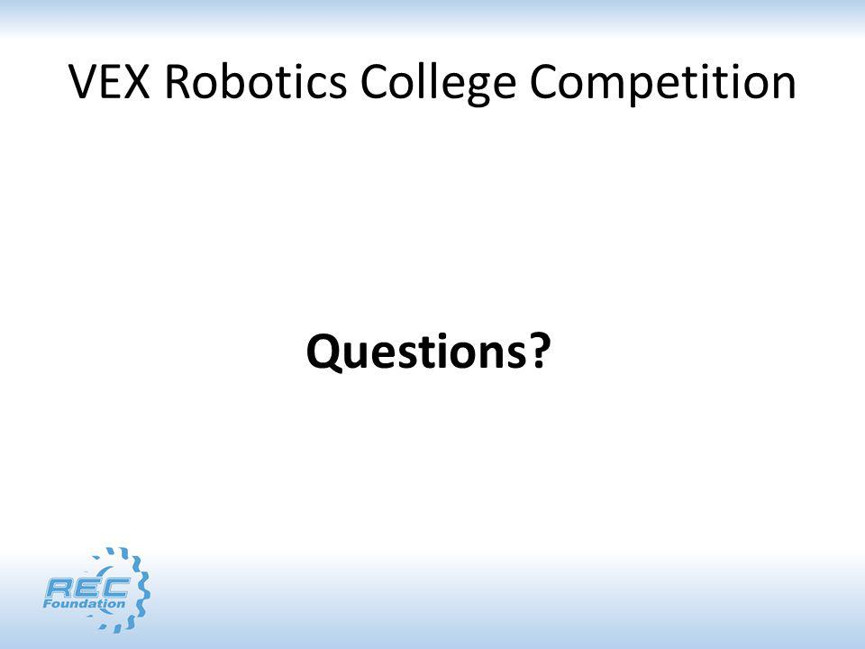 VEX Robotics College Competition Questions?