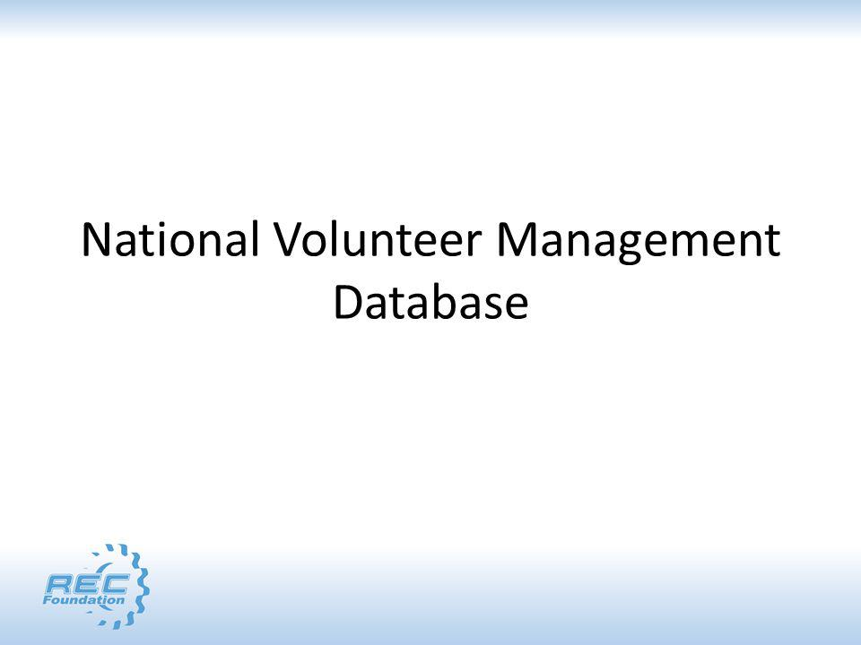 National Volunteer Management Database