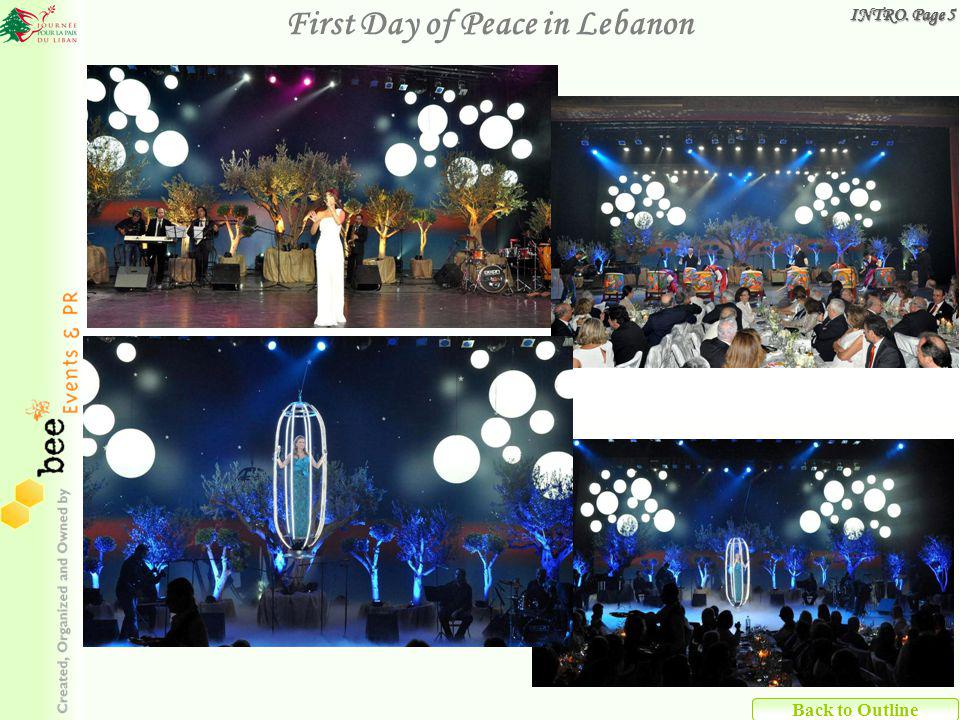 Back to Outline First Day of Peace in Lebanon INTRO. Page 5