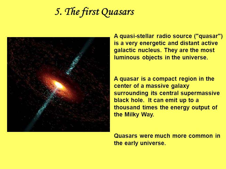 5. The first Quasars A quasi-stellar radio source (