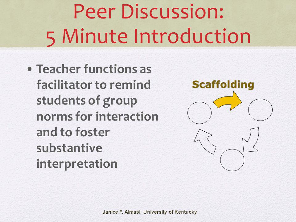 Peer Discussion: 5 Minute Introduction Janice F.