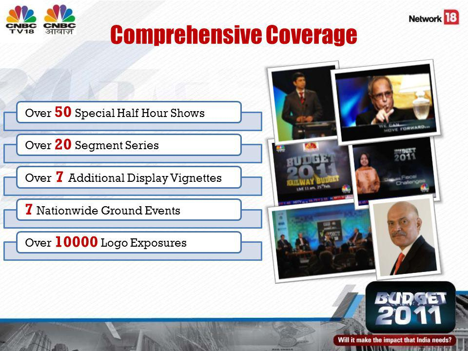 Comprehensive Coverage Over 50 Special Half Hour ShowsOver 20 Segment SeriesOver 7 Additional Display Vignettes 7 Nationwide Ground EventsOver Logo Exposures