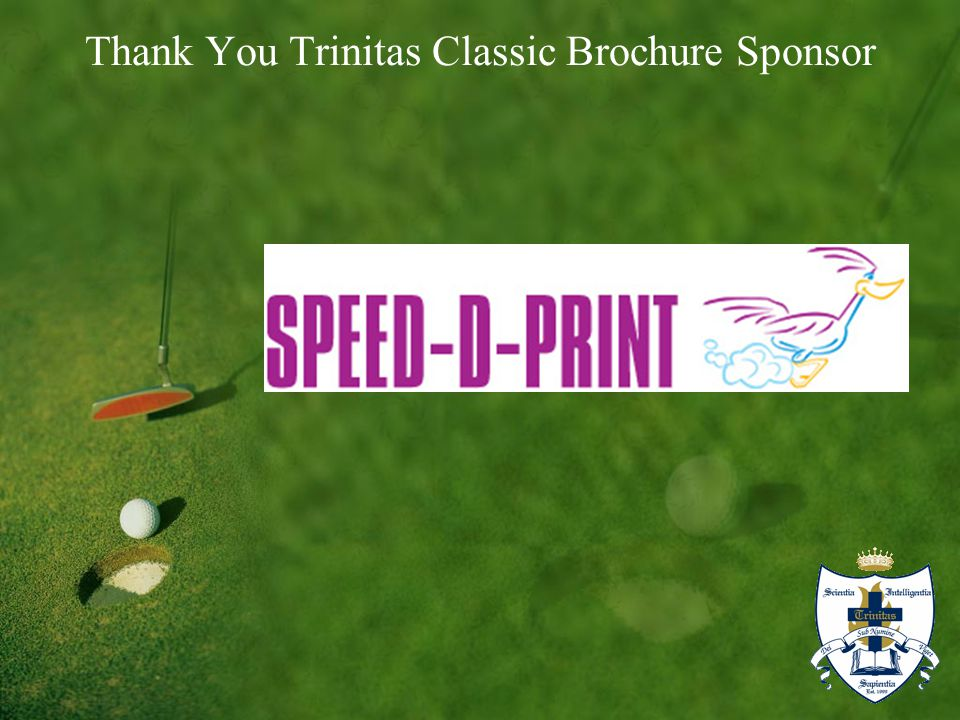 Thank You Trinitas Classic Brochure Sponsor