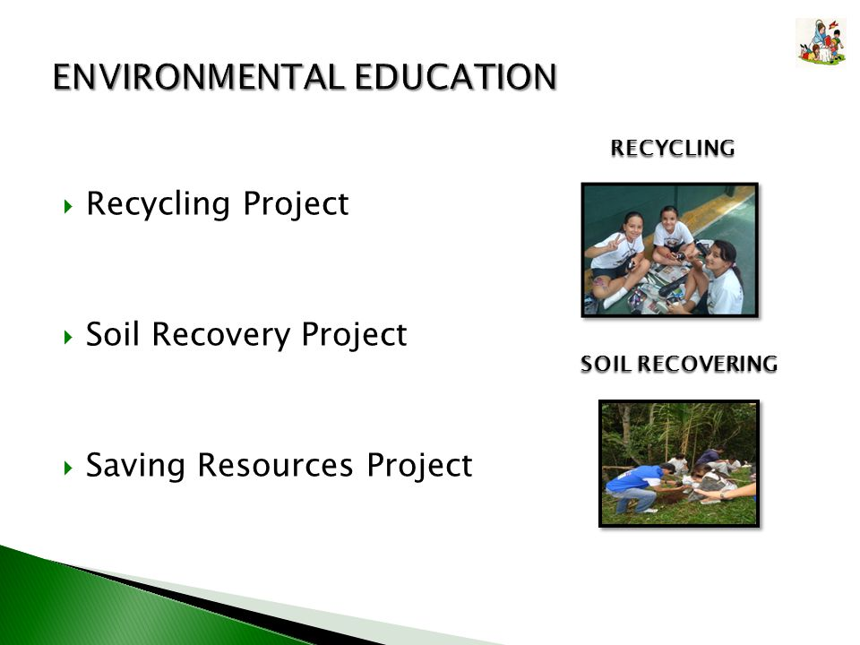 Recycling Project Soil Recovery Project Saving Resources Project RECYCLING SOIL RECOVERING