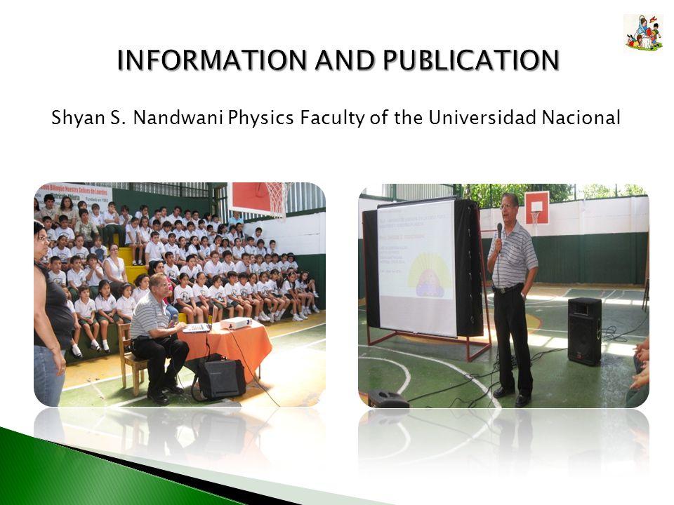 Shyan S. Nandwani Physics Faculty of the Universidad Nacional