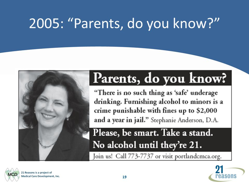 19 2005: Parents, do you know