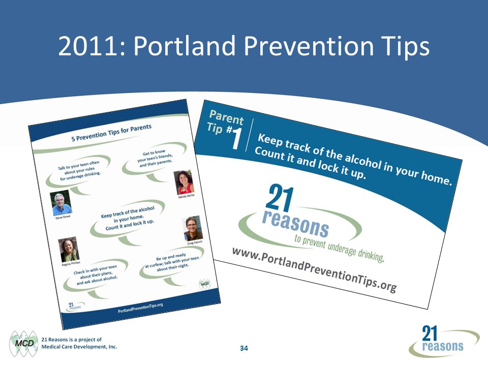 34 2011: Portland Prevention Tips