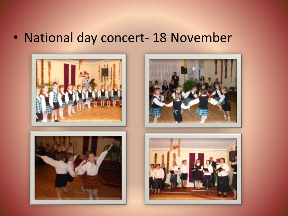 National day concert- 18 November