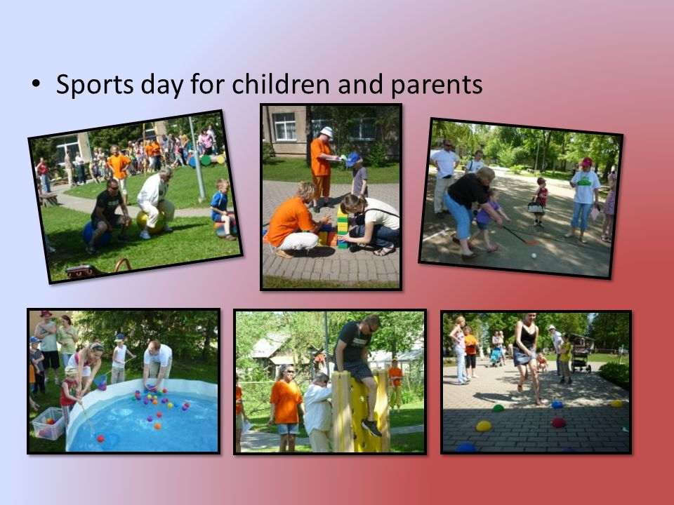 Sports day for children and parents