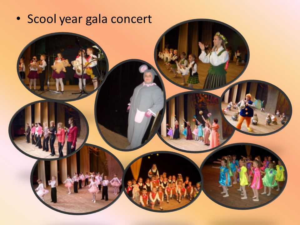 Scool year gala concert