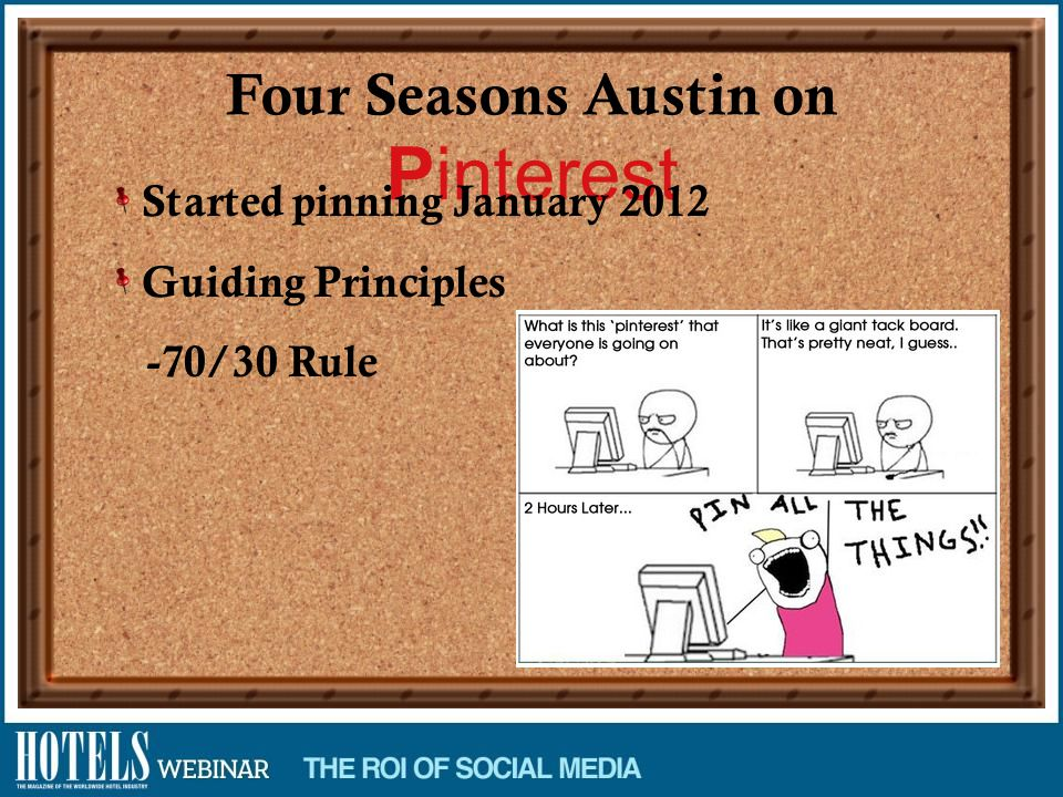 Four Seasons Austin on Pinterest Started pinning January 2012 Guiding Principles -70/30 Rule