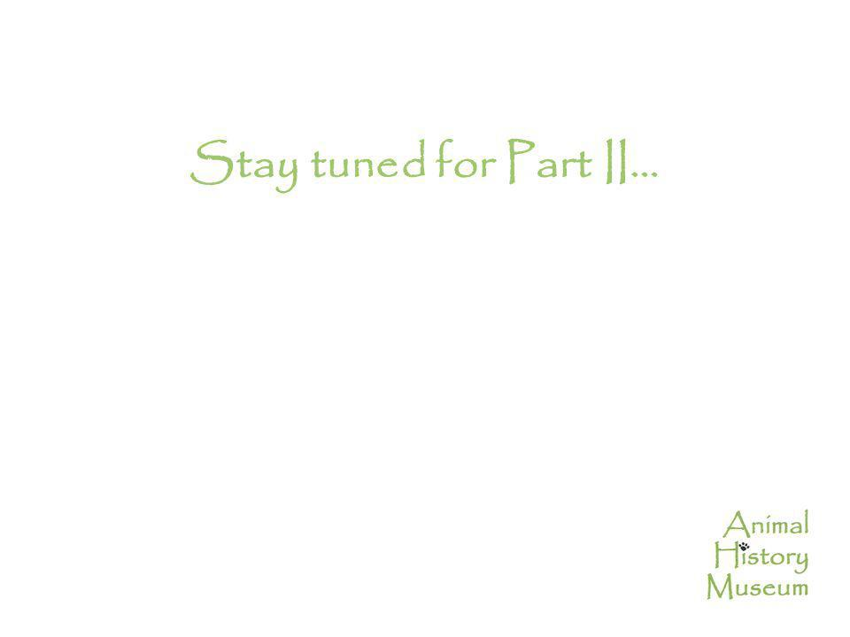 Stay tuned for Part II…