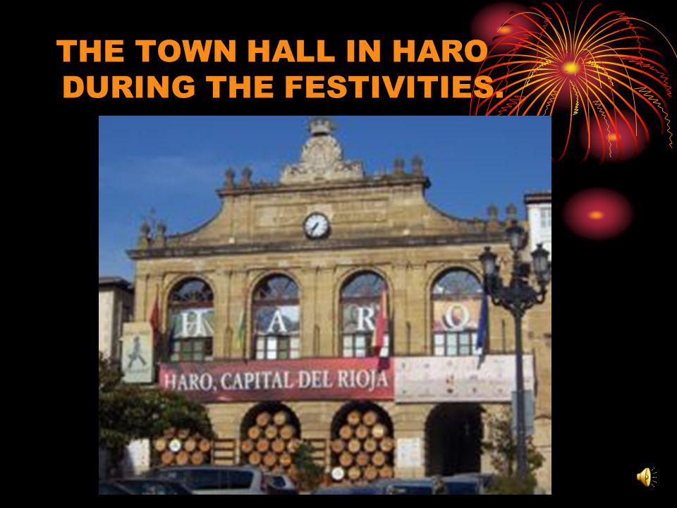 THE TOWN HALL IN HARO DURING THE FESTIVITIES.