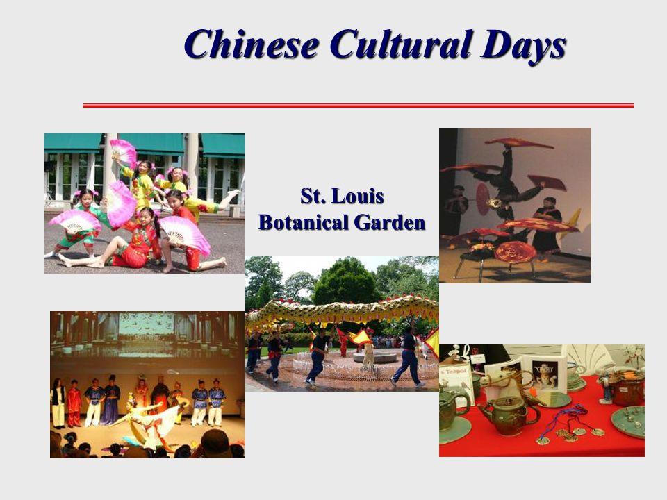 Chinese Cultural Days St. Louis Botanical Garden