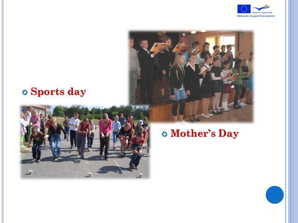 Sports day Sports day Mothers Day Mothers Day