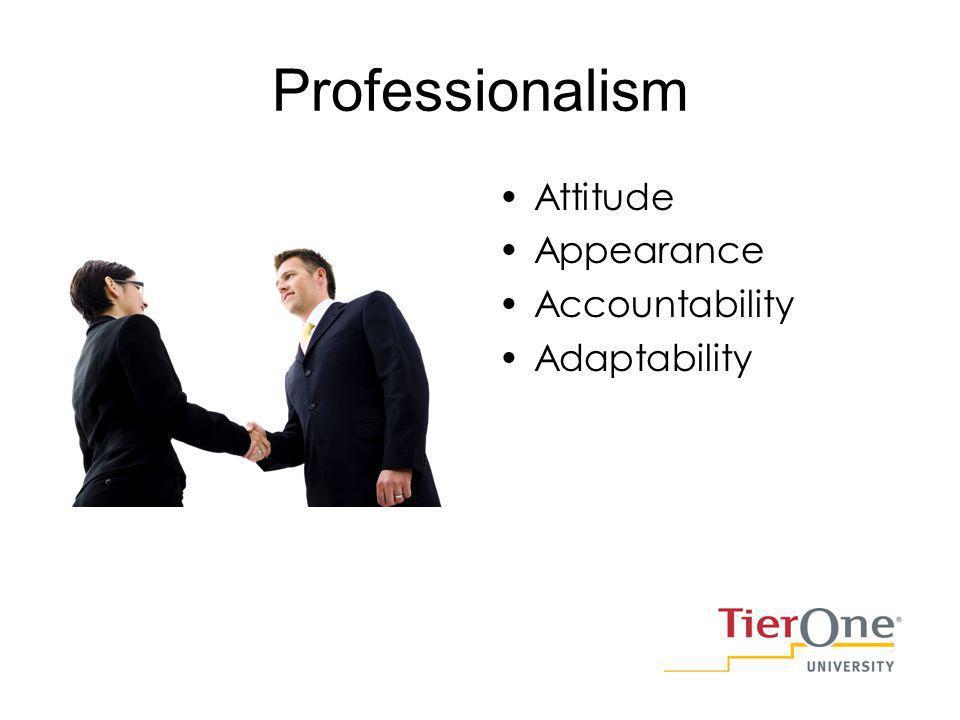 Professionalism Attitude Appearance Accountability Adaptability
