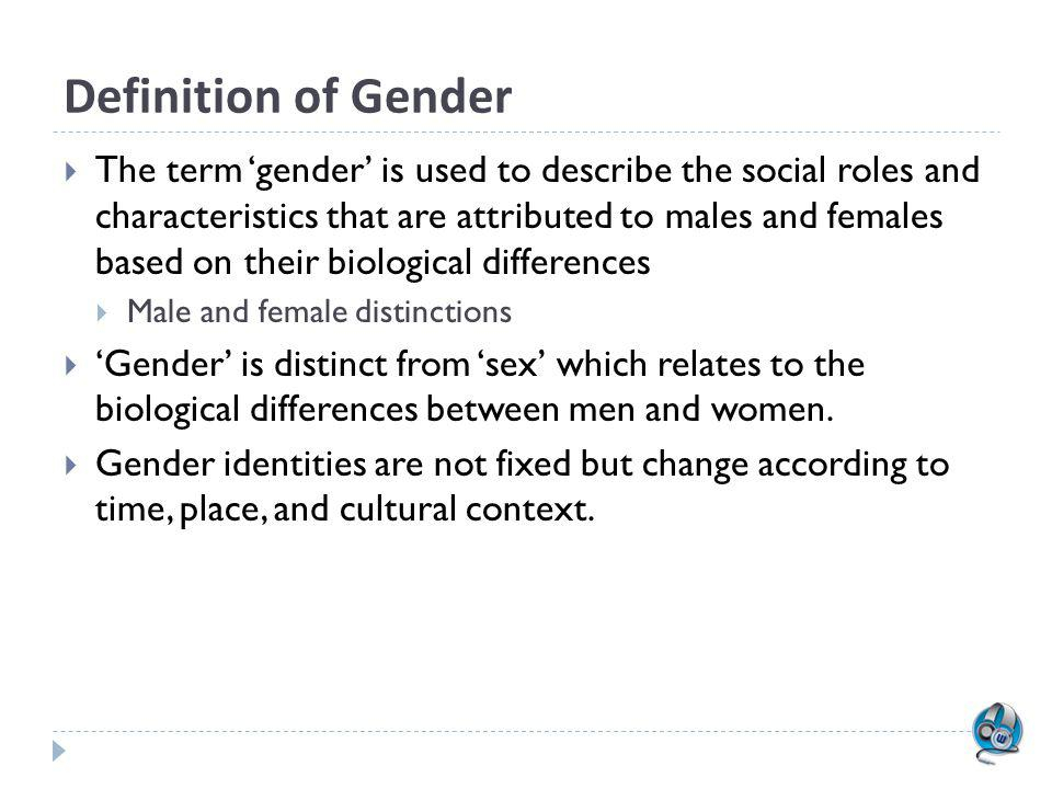 Lecture Outline Definition of Gender Masculinity and Femininity Key Terms Sexuality Gender Roles: nature or nurture? The Third Space of Gender Interse