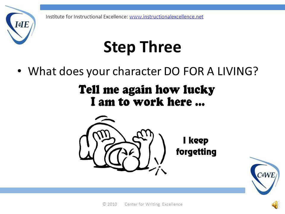 Institute for Instructional Excellence:   Step Two Describe the kind of VOICE your character has.