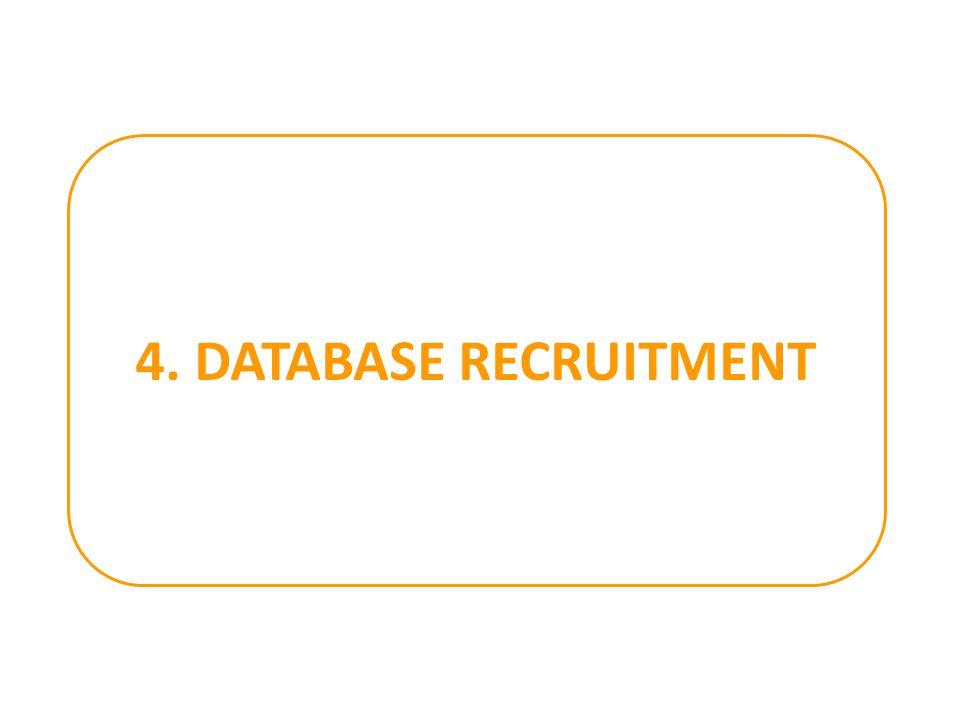 4. DATABASE RECRUITMENT