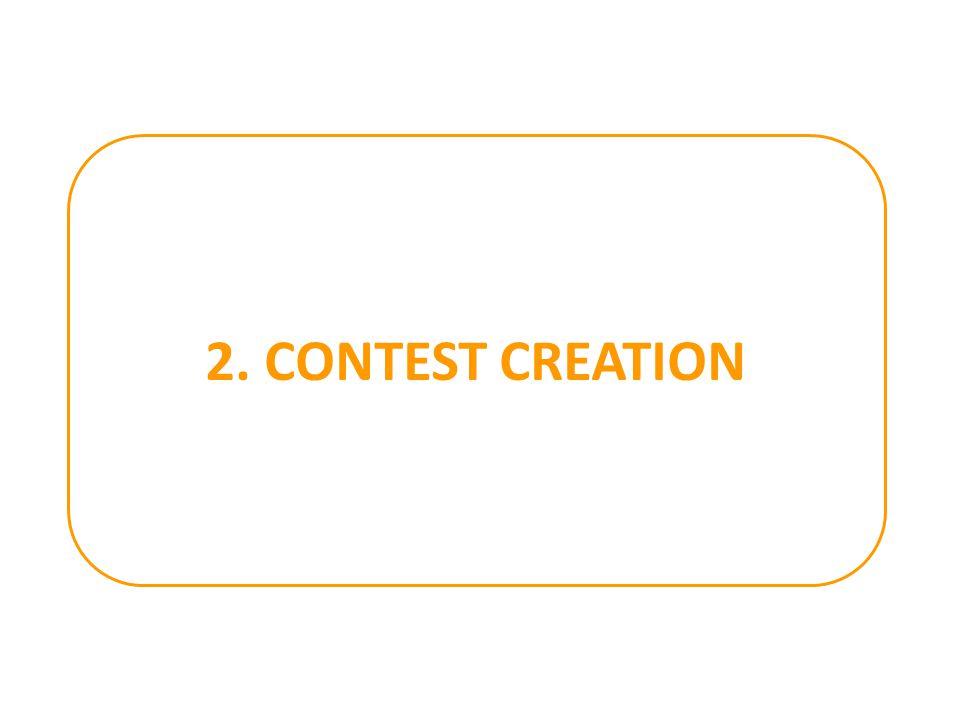 2. CONTEST CREATION