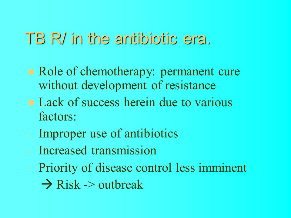 TB R/ in the antibiotic era.