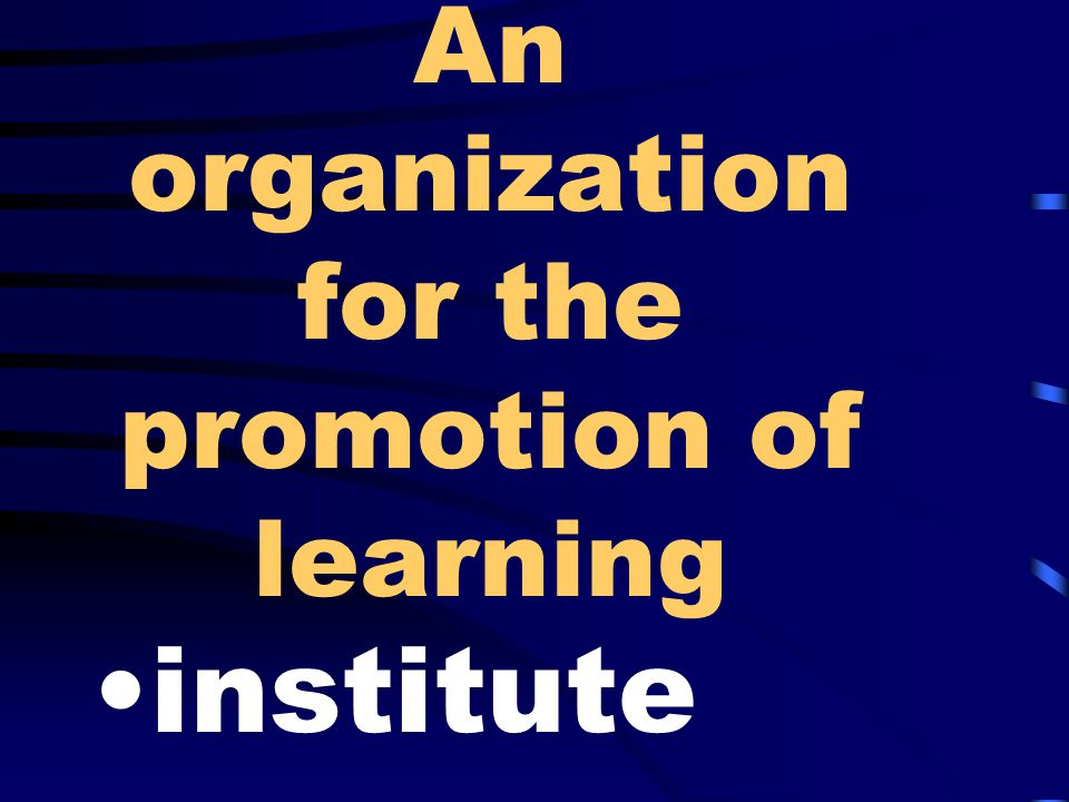 An organization for the promotion of learning institute