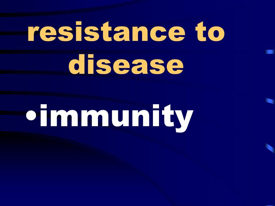 resistance to disease immunity