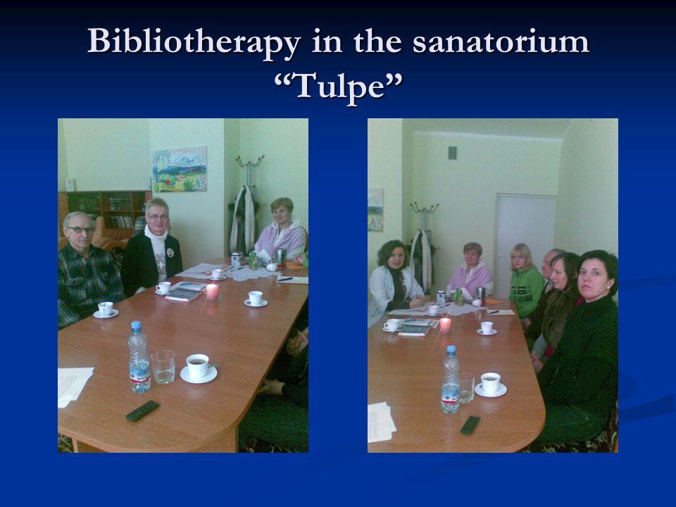 Bibliotherapy in the sanatorium Tulpe