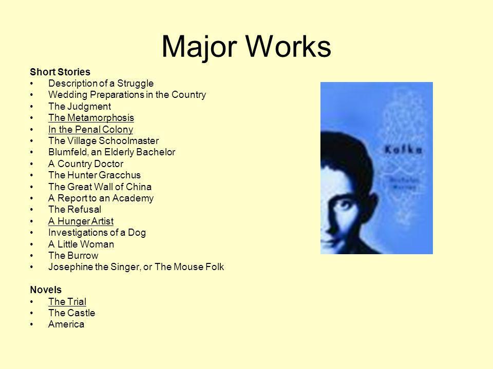 Awards & Achievements No Awards.Most of Kafkas work was published posthumously.