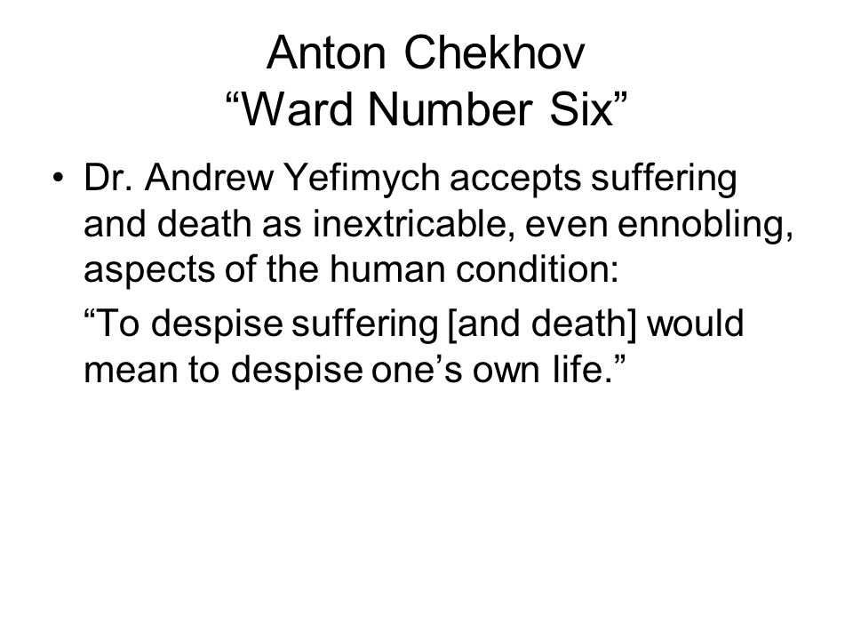 Anton Chekhov Ward Number Six Dr.