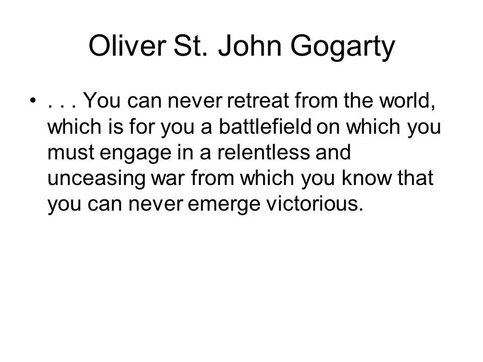 Oliver St. John Gogarty...