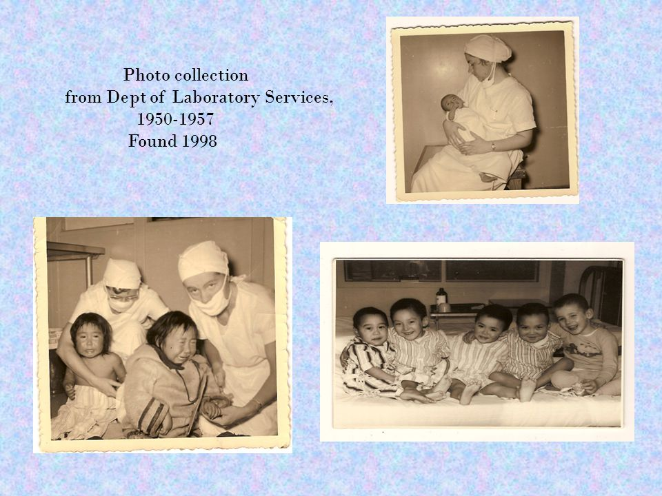 Photo collection from Dept of Laboratory Services, 1950-1957 Found 1998