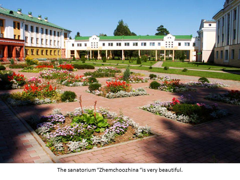 The sanatorium Zhemchoozhina is very beautiful.