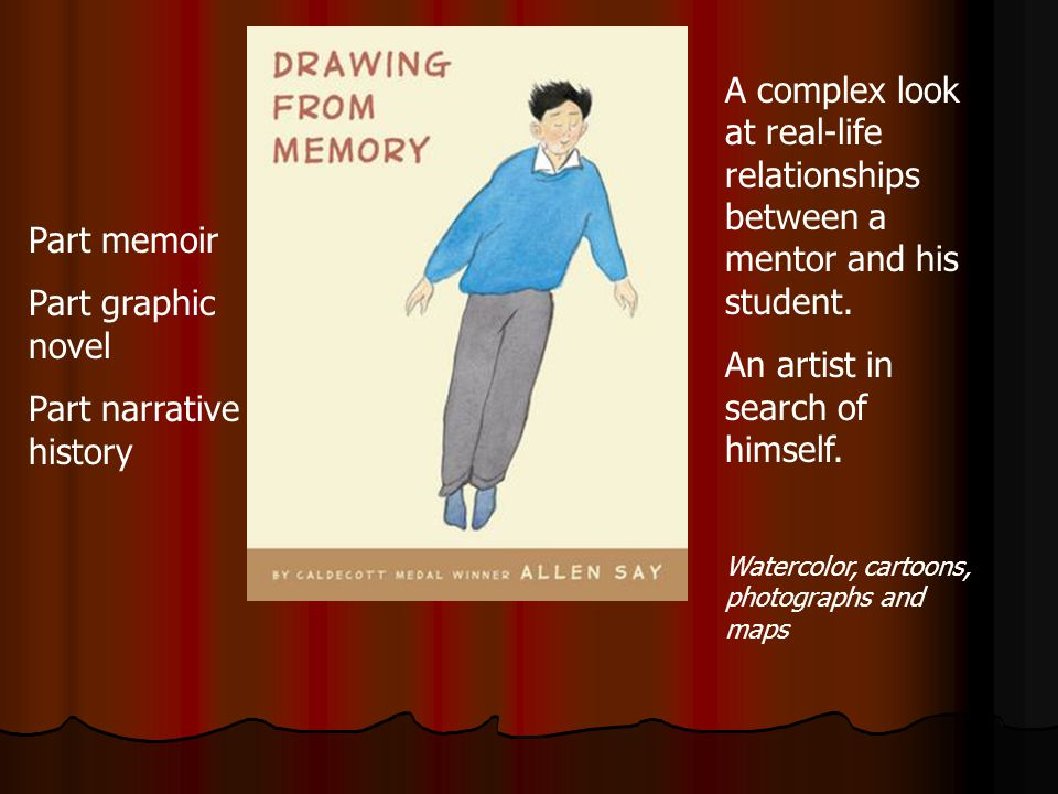 Part memoir Part graphic novel Part narrative history A complex look at real-life relationships between a mentor and his student.