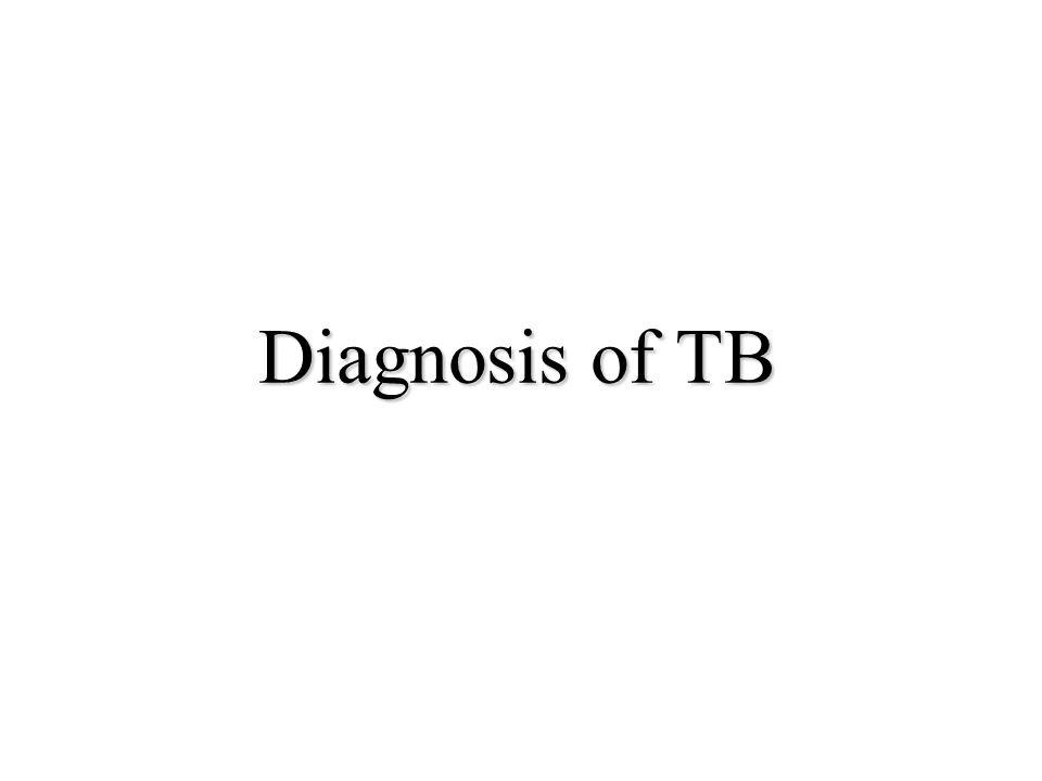 Diagnosis of TB