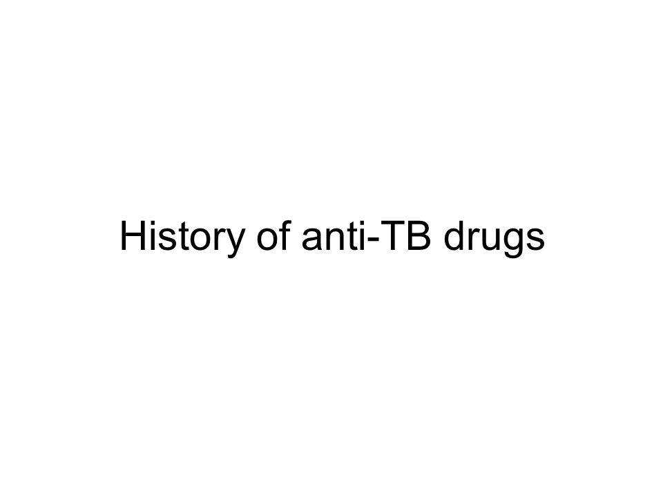 History of anti-TB drugs