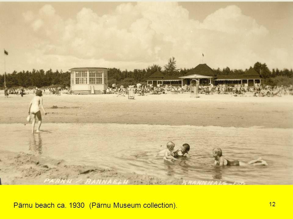 12 Pärnu beach ca. 1930 (Pärnu Museum collection).