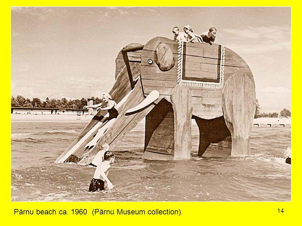 14 Pärnu beach ca. 1960 (Pärnu Museum collection).