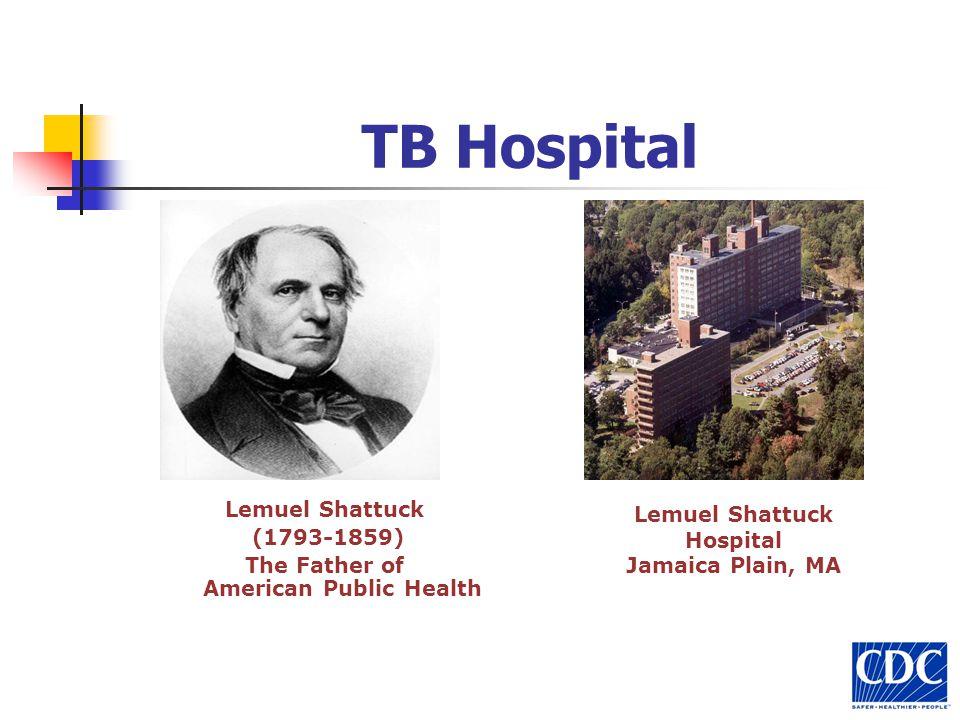 TB Hospital Lemuel Shattuck (1793-1859) The Father of American Public Health Lemuel Shattuck Hospital Jamaica Plain, MA
