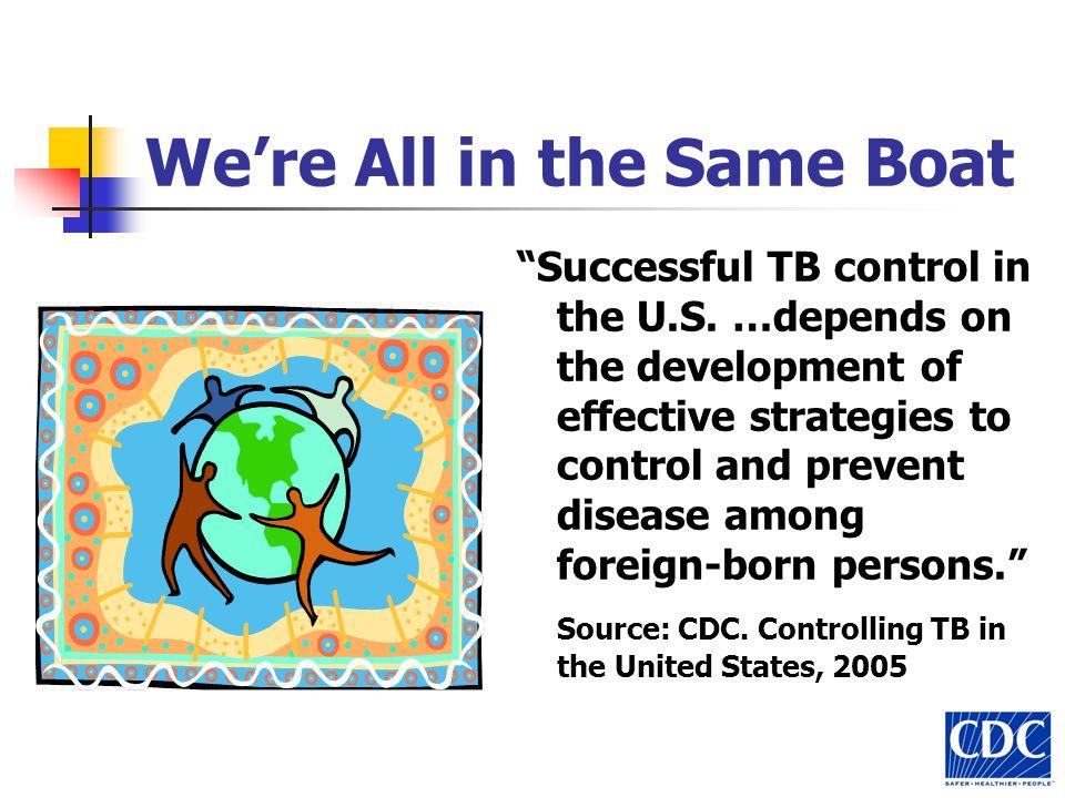 Were All in the Same Boat Successful TB control in the U.S.